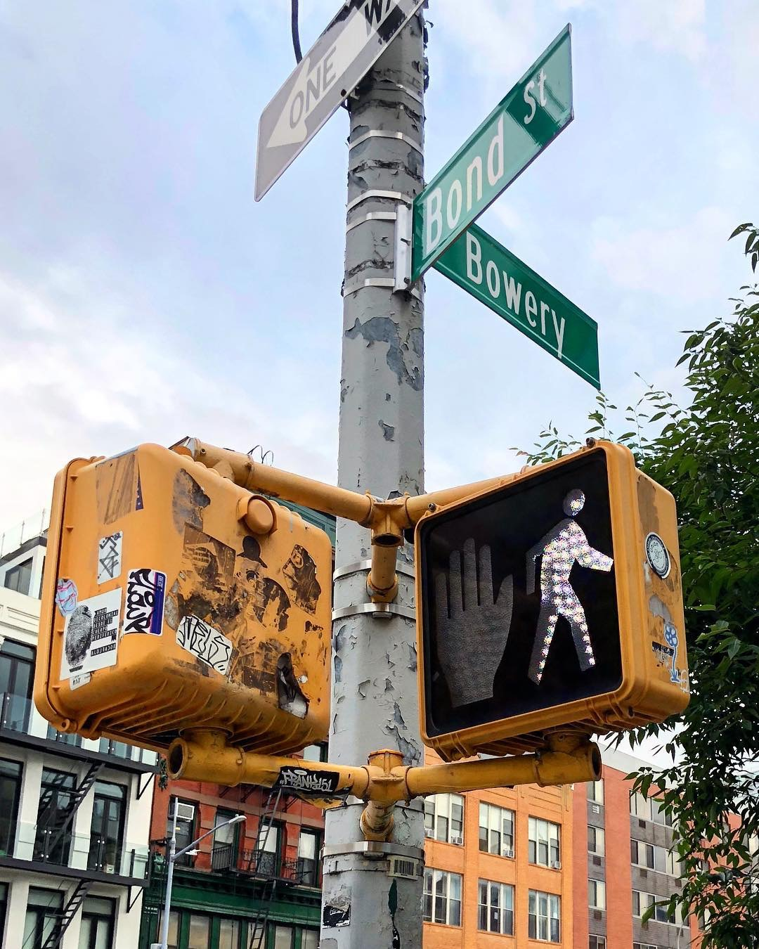 Bond St. and Bowery, New York