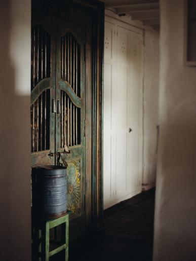 Green Painted Indian Doorway