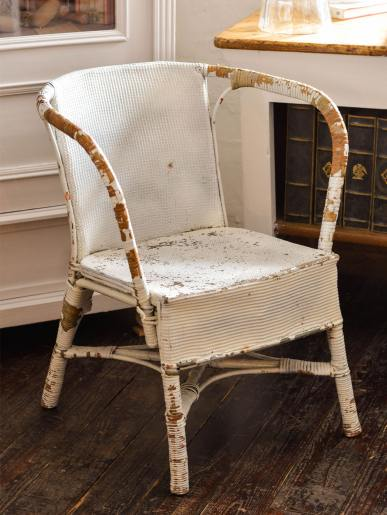 Lloyd Loom Style Painted Woven Chair