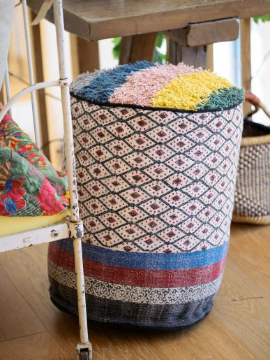 Printed Filled Pouffe