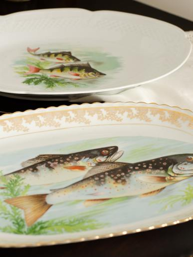 Antique Fish Platters
