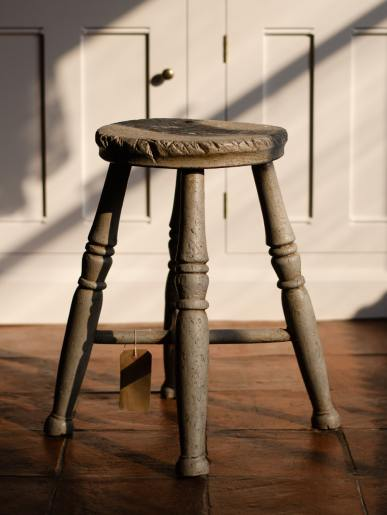 Antique Grey Stool