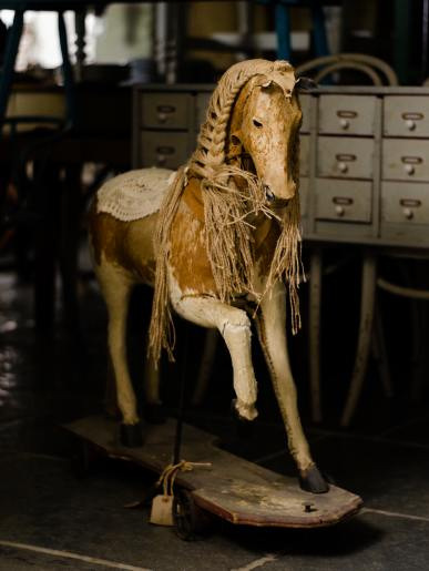 Antique Horse on Wheels