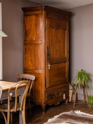 Large Cherry Wood Armoire