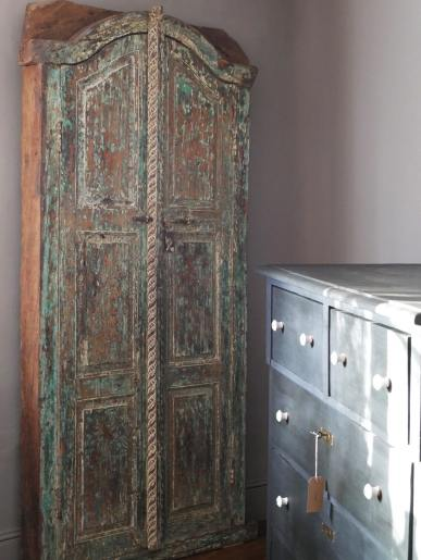 Small Green Painted Indian Doorway