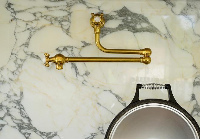 deVOL Aged Brass 'Pot Filler' Tap photo 4