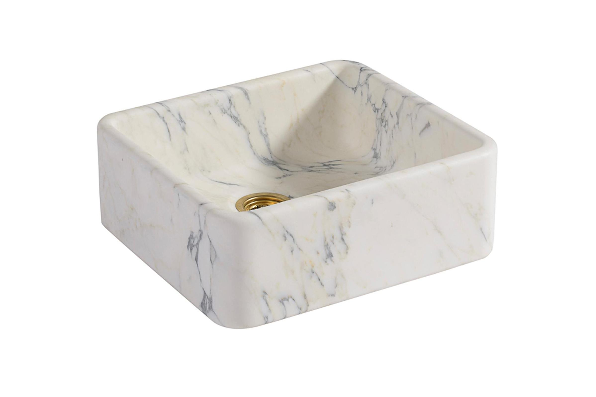 Tuscan Farmhouse 23 5/8'' Single Marble Sink photo 1