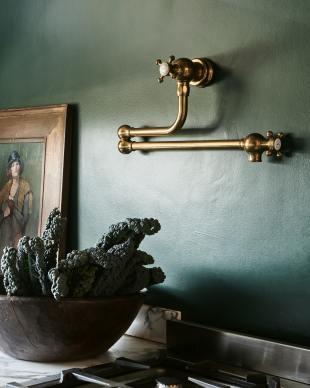 Tuscan Farmhouse 39 3/8'' Double Arabescato Marble Sink photo 3 thumbnail