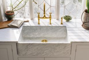 Milano Penthouse 31 1/2'' Single Marble Sink photo 4 thumbnail