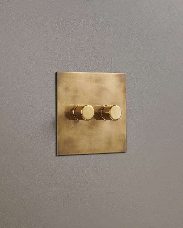 Aged Brass Dimmer Switches