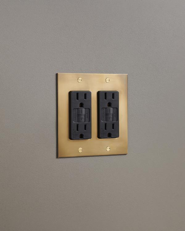 Aged Brass Outlets