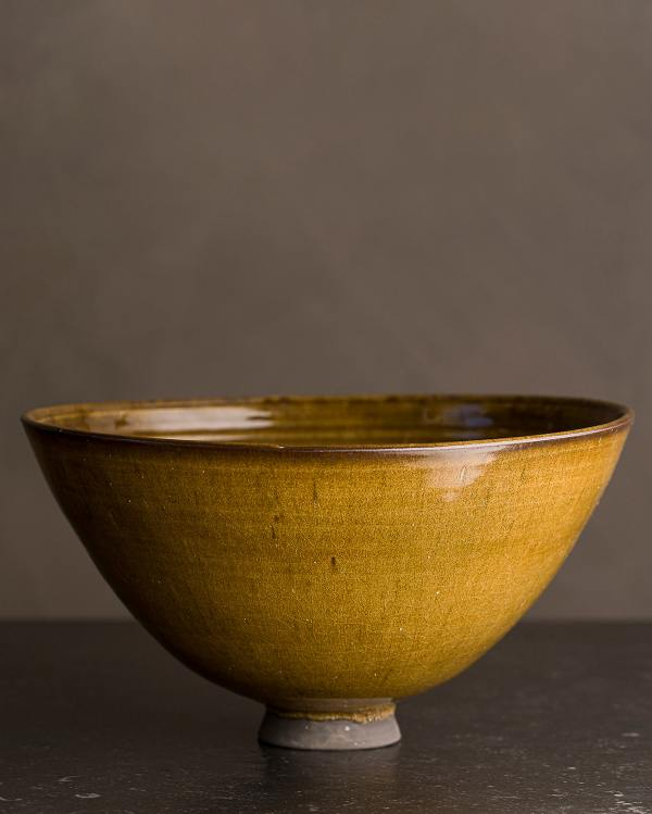 Large Amber Glaze Rice Bowl
