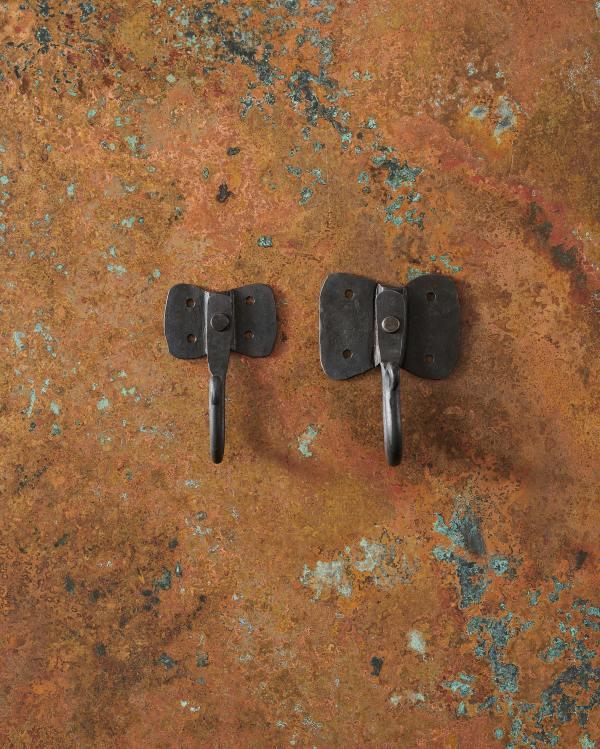 Iron Hooks with Elephant Backplates