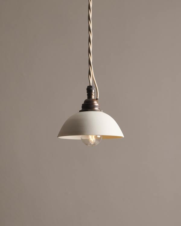 Plain Rice Bowl Porcelain Light