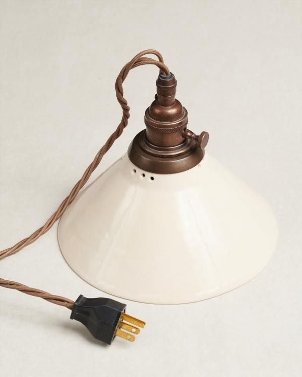 Mini Creamware Plug-in Light