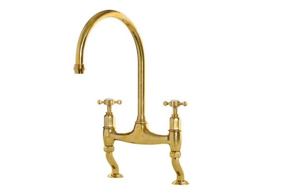 deVOL Aged Brass 'Ionian' Tap