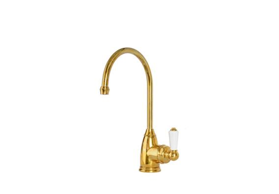deVOL Aged Brass 'Parthian' Mini Instant Hot Tap (with Heating System)